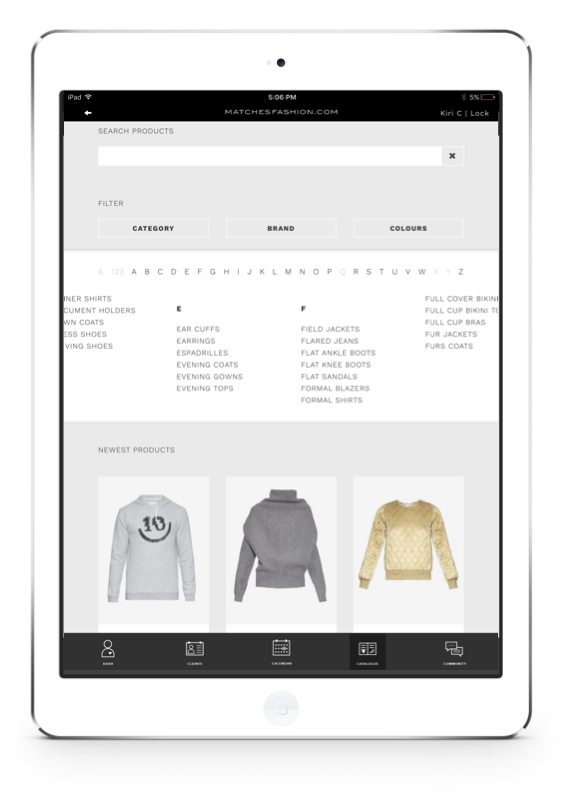 proximity insight product scan and search ipad