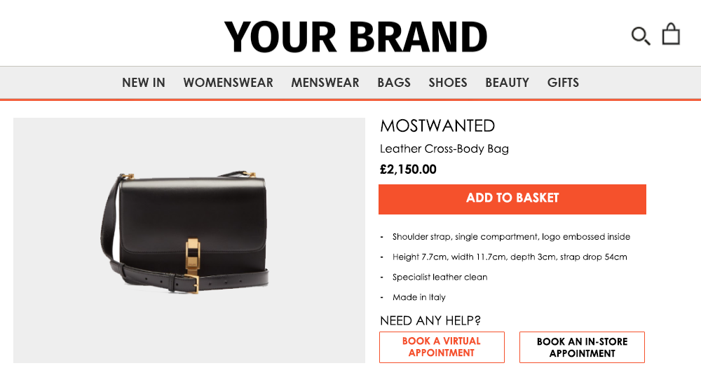 Your Brand add to bag
